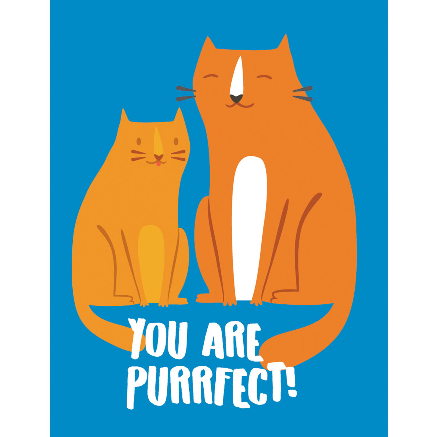You re purrfect clipart vector free stock You Are Purrfect! Notebook – Blue   HAPPYOUWORLD vector free stock