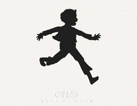 Young black boy silhouette clipart banner library library Silhouette Clipart of Excited Running Boy by ArtisElements ... banner library library