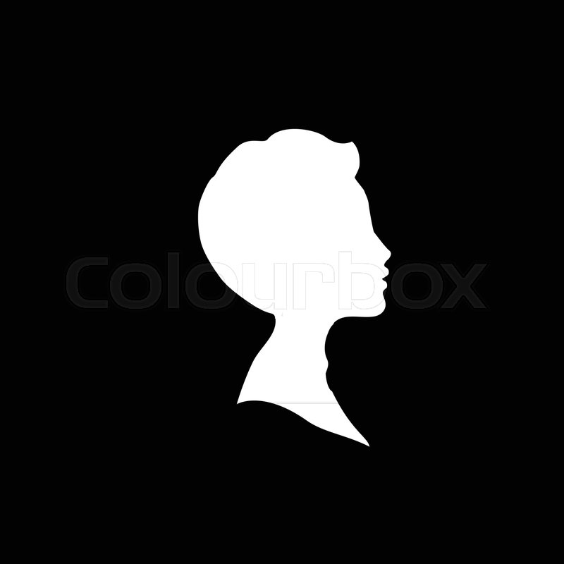 Young black boy silhouette clipart banner library download White profile silhouette of young boy ...   Stock vector ... banner library download