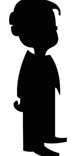 Young black boy silhouette clipart clipart freeuse download Child, Youngster, Outline, Black, Dark, Silhouette, Standing ... clipart freeuse download