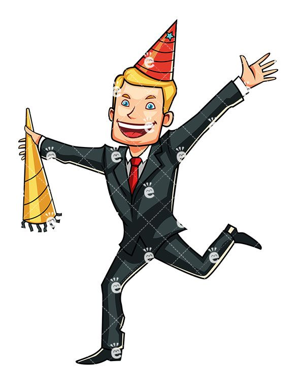 Young businessman clipart