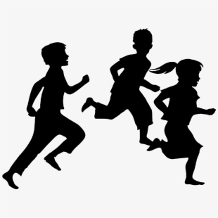 Young children silhouettes clipart black and white png Kids Silhouette Png - Kids Silhouettes #272011 - Free ... png