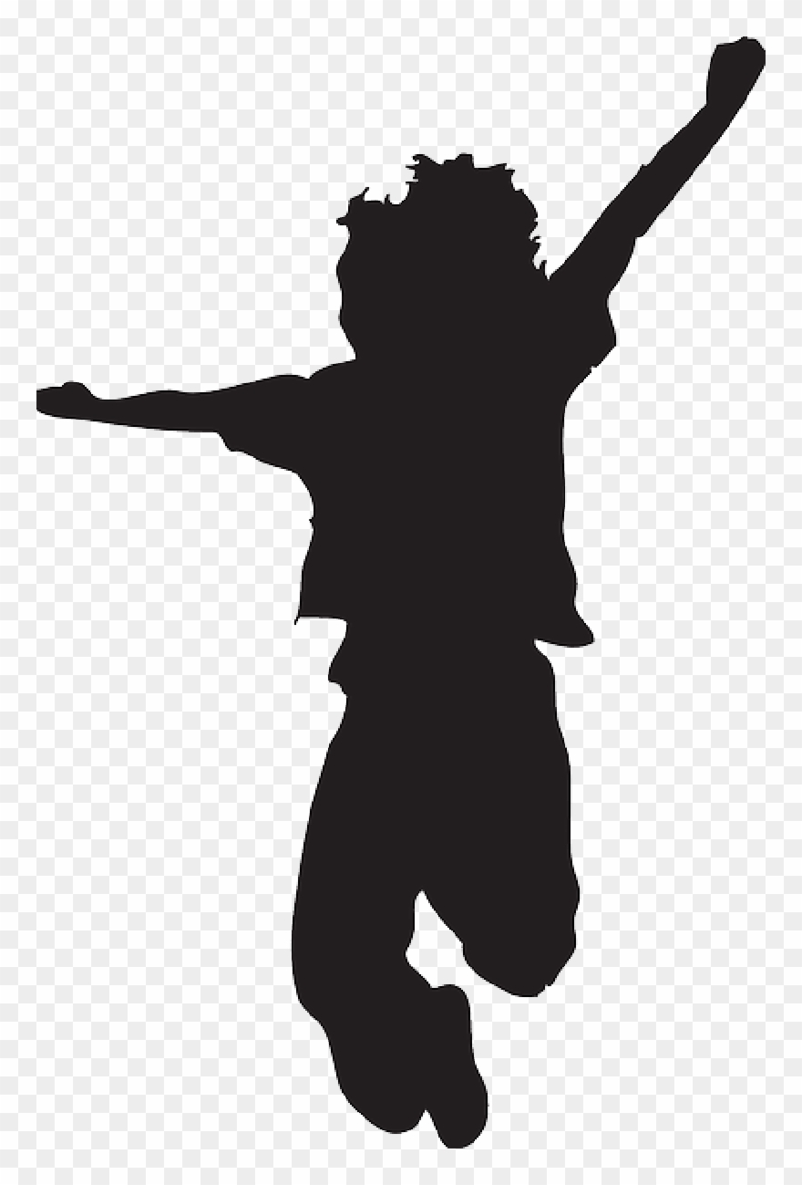 Young children silhouettes clipart black and white image black and white download Clip Art Happy Silhouette Small Children Stock Illustration ... image black and white download