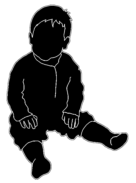 Young children silhouettes clipart black and white image royalty free Beautiful Silhouettes of Children image royalty free