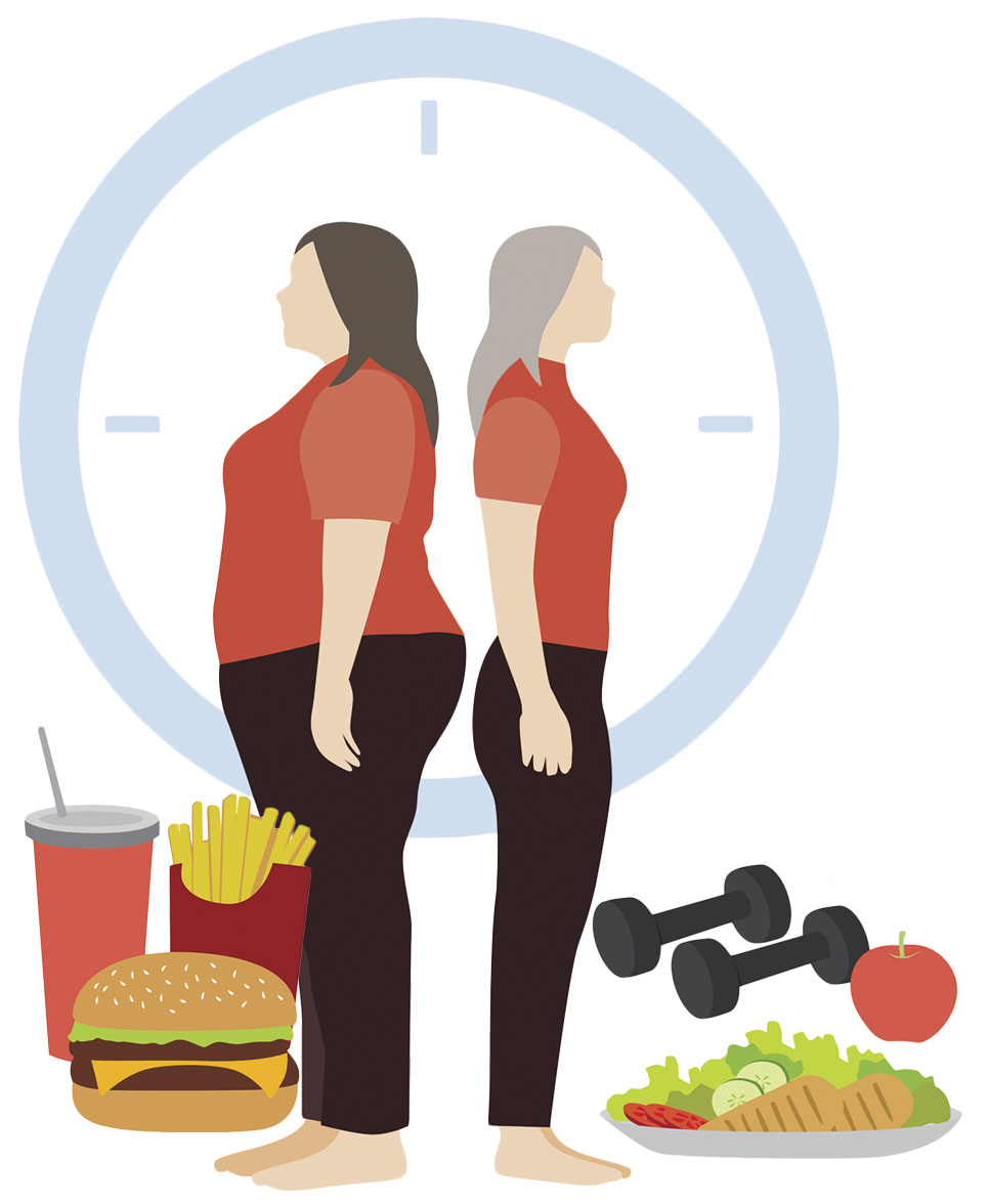 Woman overeating clipart clip art freeuse stock Can you make up for years of poor eating? - Harvard Health clip art freeuse stock