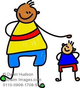 Young kids clipart graphic library stock Clipart Illustration of a Big Kid and a Little Kid graphic library stock