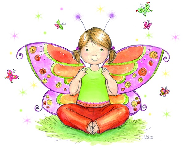 Yoga pose butterfly clipart picture royalty free download Bonding with Your Child Through Yoga picture royalty free download