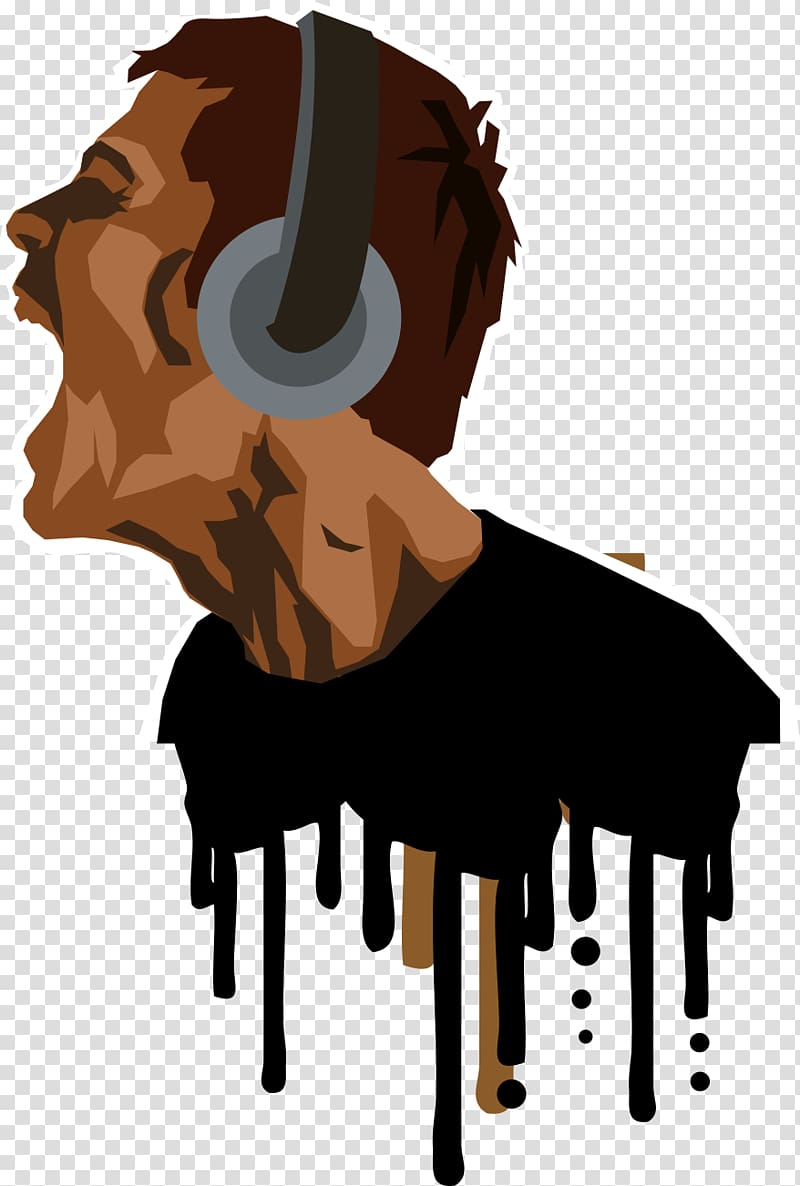 Young people speaker clipart banner Shouting man with headphones illustration, Music , Young ... banner