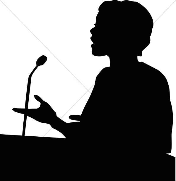 Young people speaker clipart vector black and white stock Free Church Silhouette Cliparts, Download Free Clip Art ... vector black and white stock