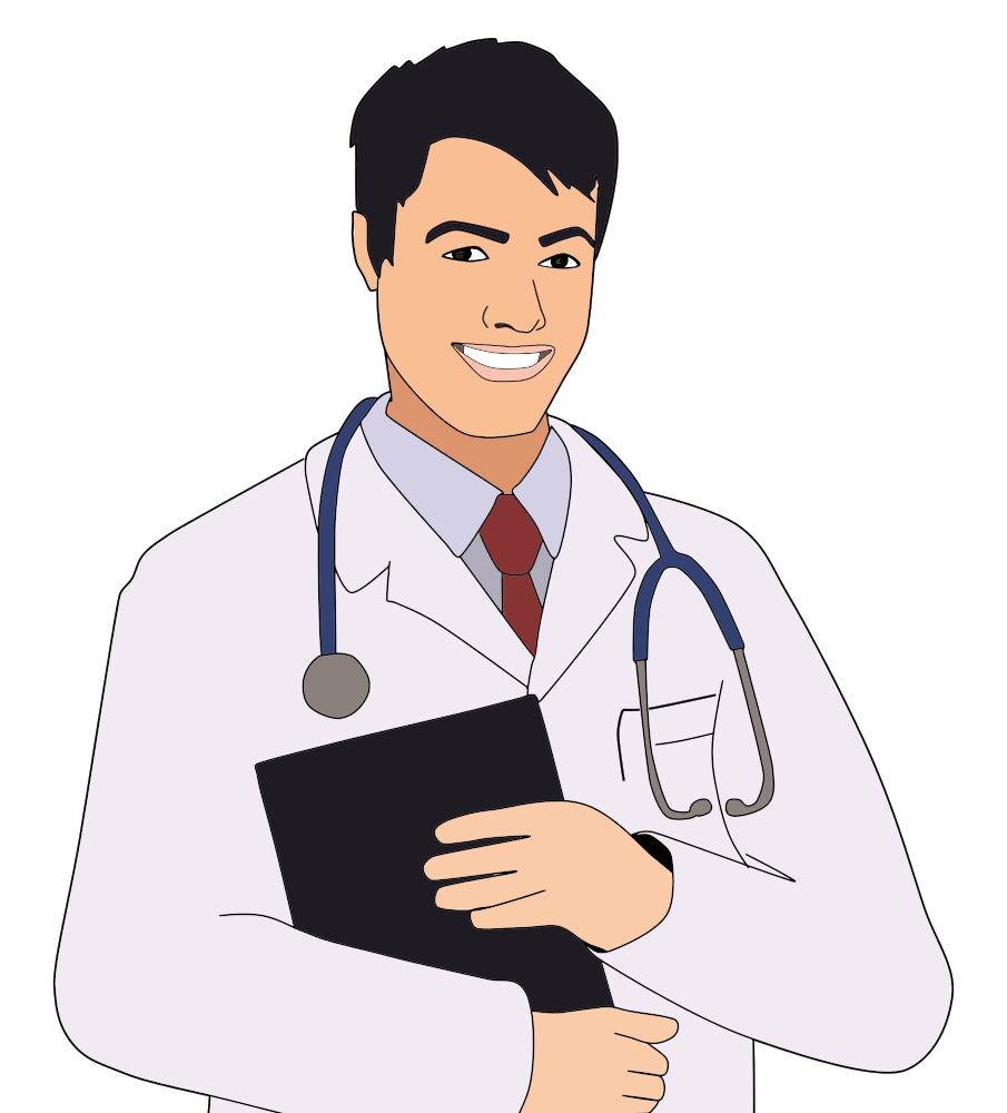 Young sales clipart jpg freeuse library OnlineLabels Clip Art - Young Male Doctor jpg freeuse library