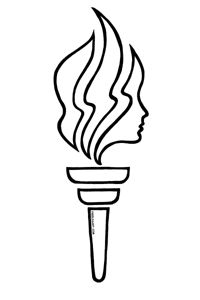 Young women s torch clipart picture freeuse Young Womens Torch B Clipart | Clipart Panda - Free Clipart ... picture freeuse