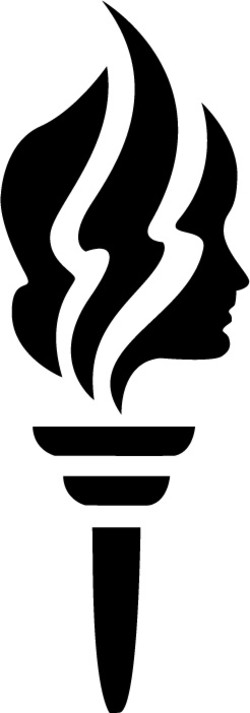 Young women s torch clipart clip free library Young women Logos clip free library