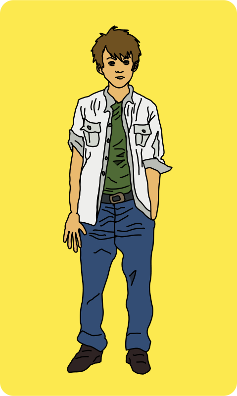 Younger man clipart jpg library Free Clipart: Young Man Standing | mairin jpg library