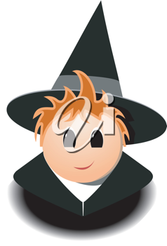 Youngwizard clipart svg transparent stock Royalty Free Clipart Image of a Young Wizard | Halloween ... svg transparent stock