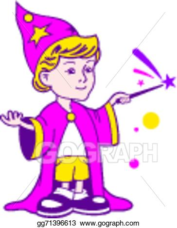 Youngwizard clipart picture freeuse stock Vector Stock - Wizard boy logo. Clipart Illustration ... picture freeuse stock