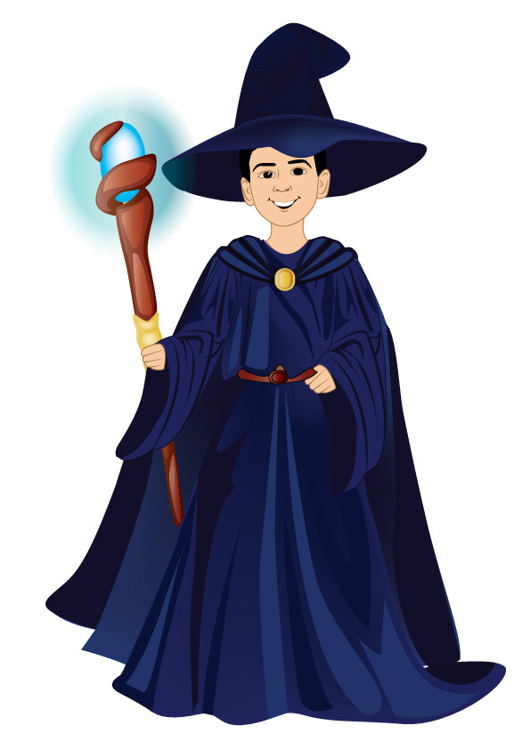 Youngwizard clipart vector royalty free stock Entry #3 by qshahnawaz for Draw a young wizard and his cat ... vector royalty free stock