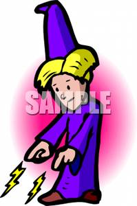 Youngwizard clipart svg library stock Clipart Image: A Young Wizard Casting a Spell svg library stock