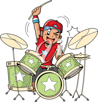 Yount clipart clip art freeuse Royalty Free Clipart Image of a Boy Playing Drums | Awesome ... clip art freeuse