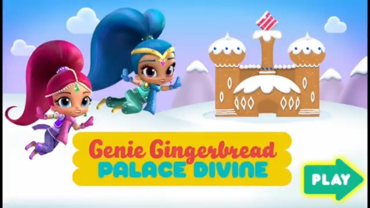 Your genies divine clipart svg library library Shimmer and Shine Genie Gingerbread Palace Divine | Nick Jr Kids Gameplay svg library library