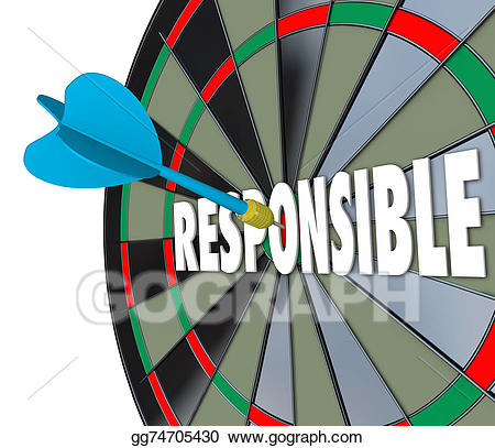 Your oblications clipart banner royalty free Stock Illustration - Responsible word dart board accountable ... banner royalty free