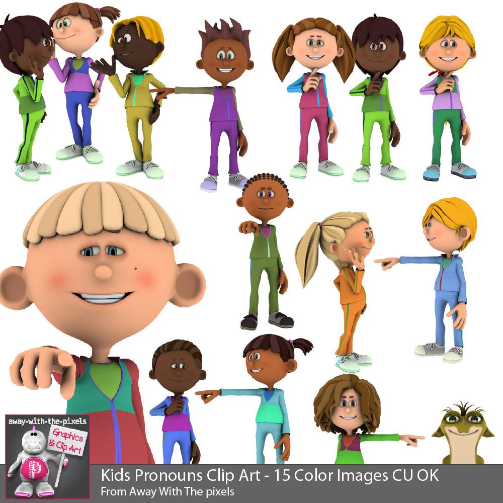Your pronoun clipart clip stock 3d Kids Pronoun Clip Art for Beginner Grammar & ESL Resources - Grammar  Clipart clip stock