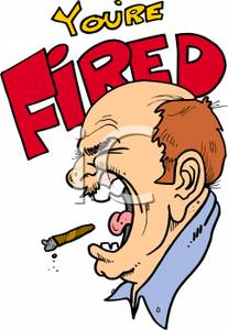 Youre fired clipart clipart transparent stock An Angry Boss Yelling \