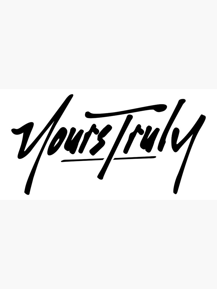 Yours truly clipart image freeuse stock Phora- Yours Truly | Greeting Card image freeuse stock
