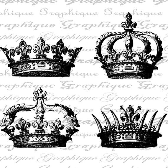 Youth beauty queen being crowned clipart banner black and white download Crowns Crown Royal Queen King Digital Image Download ... banner black and white download