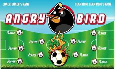 Youth soccer clipart banner clipart royalty free library 5 soccer banner ideas with Angry Bird character for kids ... clipart royalty free library