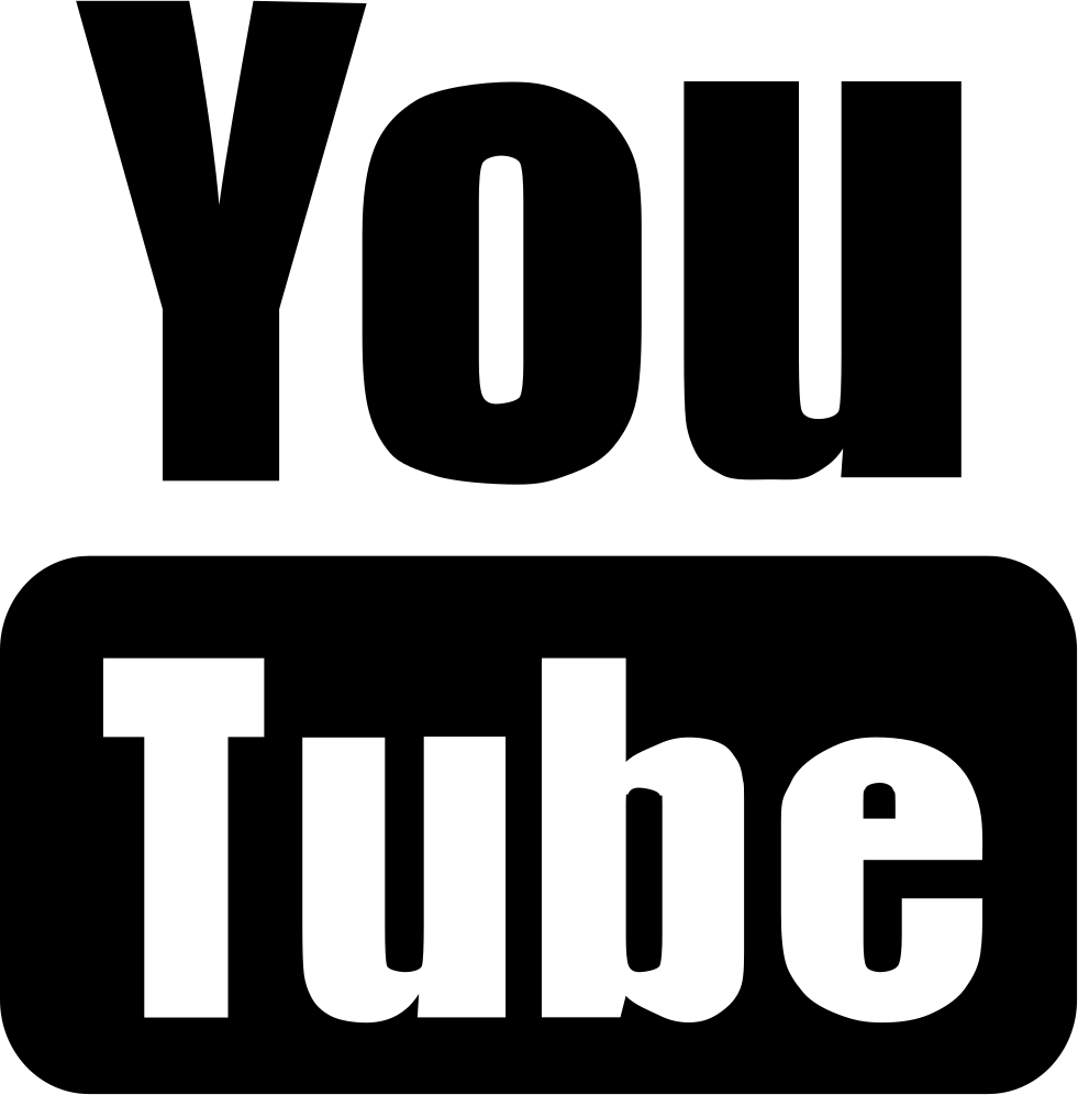 Youtube clipart black and white free YouTube Logo Computer Icons Video Black and white - youtube ... free