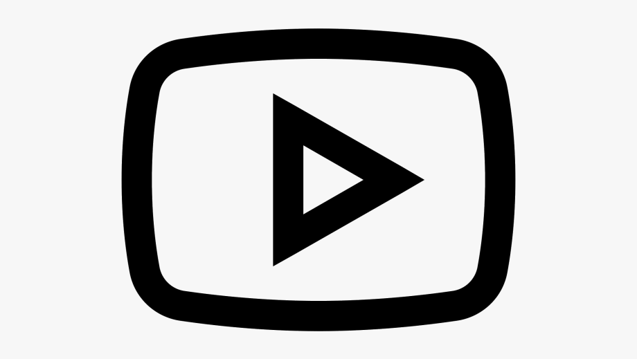 Youtube clipart black and white picture freeuse Youtube Play Button Clipart Png - Icono De Youtube Png ... picture freeuse