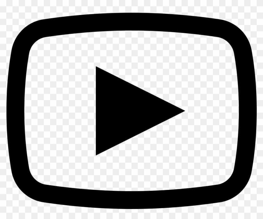 Youtube clipart black and white jpg royalty free download Youtube1600 - Youtube Icon Black And White, HD Png Download ... jpg royalty free download