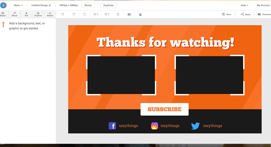 Youtube end cards clipart free library Online YouTube Outro Maker - Free & Easy to Use | Snappa free library