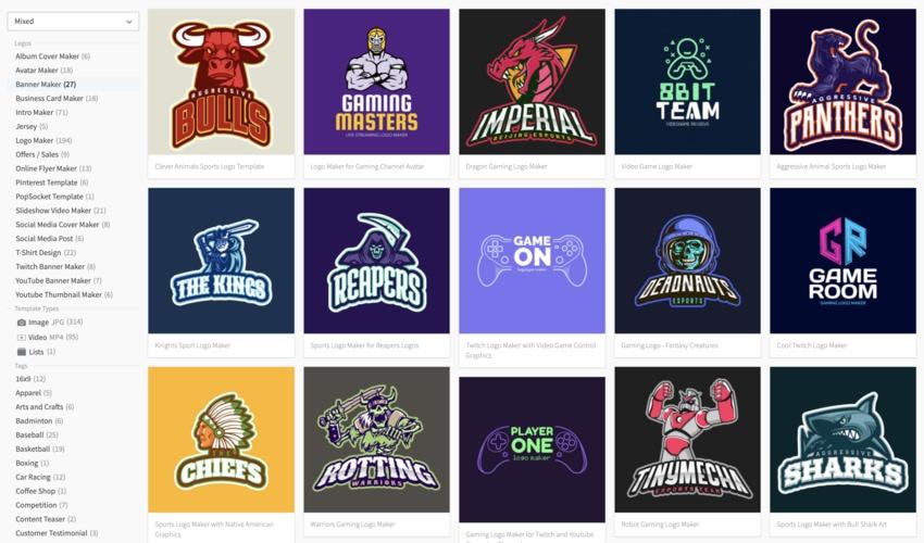 Youtube logo clipart maker svg download 20 Cool Gaming Logos: Team + Video Games (Online Design Creator) svg download