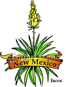 Yucca flower clipart free black and white State Flower of New Mexico - Royalty Free Clipart Picture ... black and white