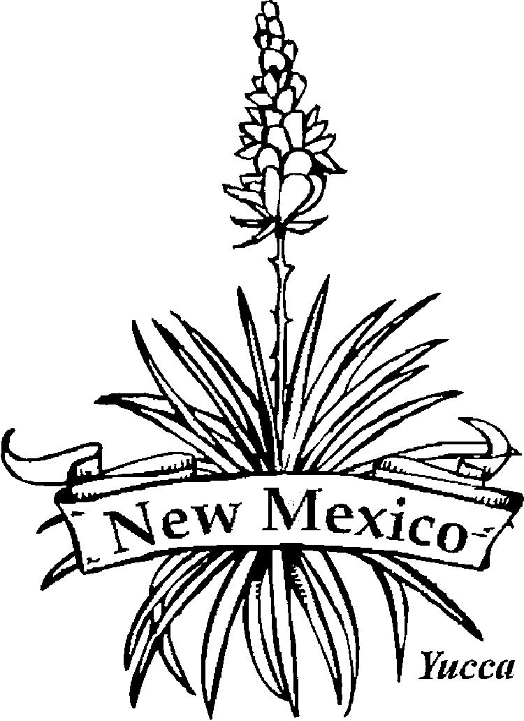 Yucca flower clipart free svg freeuse new mexico state flower coloring pages | Coloring Pages For ... svg freeuse