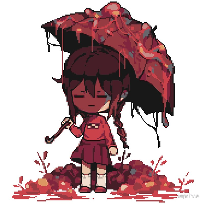Yume nikki clipart picture black and white Yume Nikki   Madotsuki Viscera   Art Print picture black and white