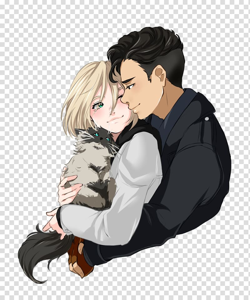 Yuri on ice clipart picture library download Yuri on Ice Drawing Art Yaoi, beautiful couple transparent ... picture library download