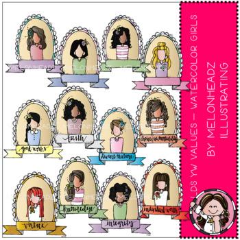 Yw values clipart jpg transparent download Young Women Values clip art - LDS - by Melonheadz jpg transparent download