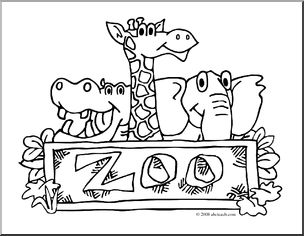 Z00 clipart black and white clip art transparent download Zoo clipart black and white 4 » Clipart Station clip art transparent download
