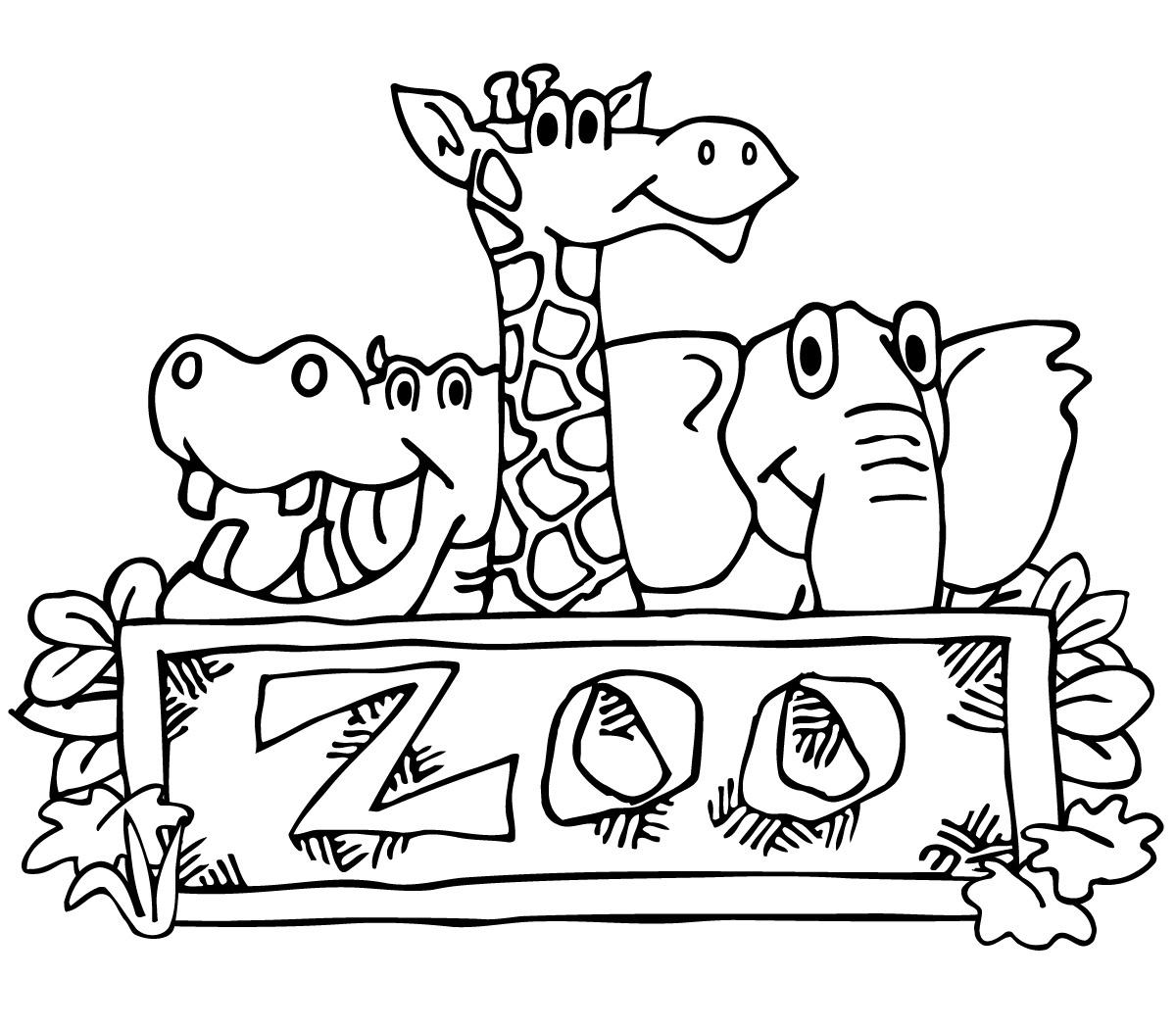 Z00 clipart black and white jpg library download Zoo Clipart Black And White – Pencil And In Color Zoo ... jpg library download