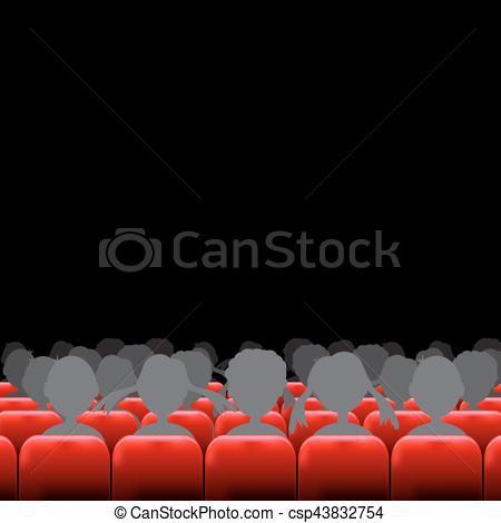 Zaal theater clipart graphic black and white stock gehoorzaal, scherm, zetels, bioscoop graphic black and white stock