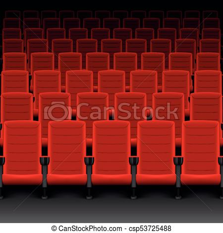 Zaal theater clipart png free download vector, chairs., theater, bioscoop, film, seats., illustratie, zaal,  realistisch, rijen, rood, zetels, of, lege png free download