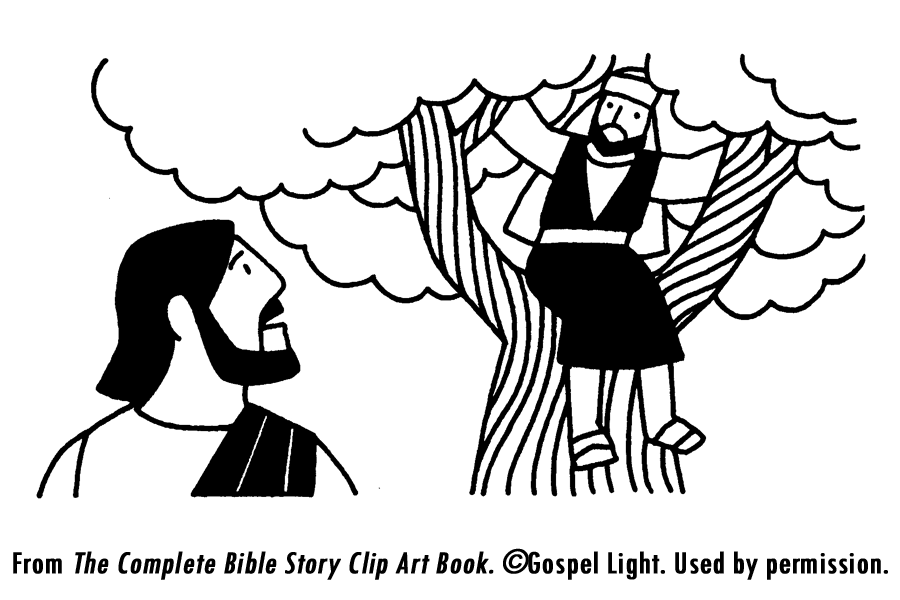 Zacchaeus clipart black and white image freeuse stock Free Jesus And Zacchaeus Coloring Page, Download Free Clip ... image freeuse stock