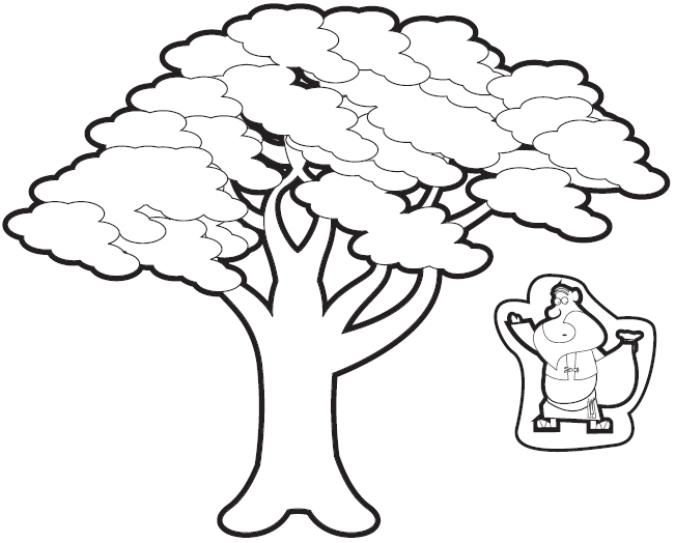 Zacchaeus clipart black and white graphic library zacchaeus in the tree cut outs! | Sunday School Crafts ... graphic library