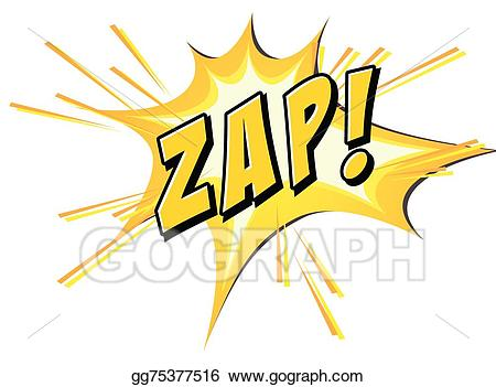 Zap clipart jpg freeuse library EPS Vector - Zap flash on white. Stock Clipart Illustration ... jpg freeuse library