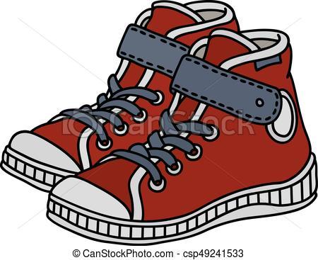 Zapatillas ninos clipart clipart royalty free stock zapatillas, niños, rojo clipart royalty free stock
