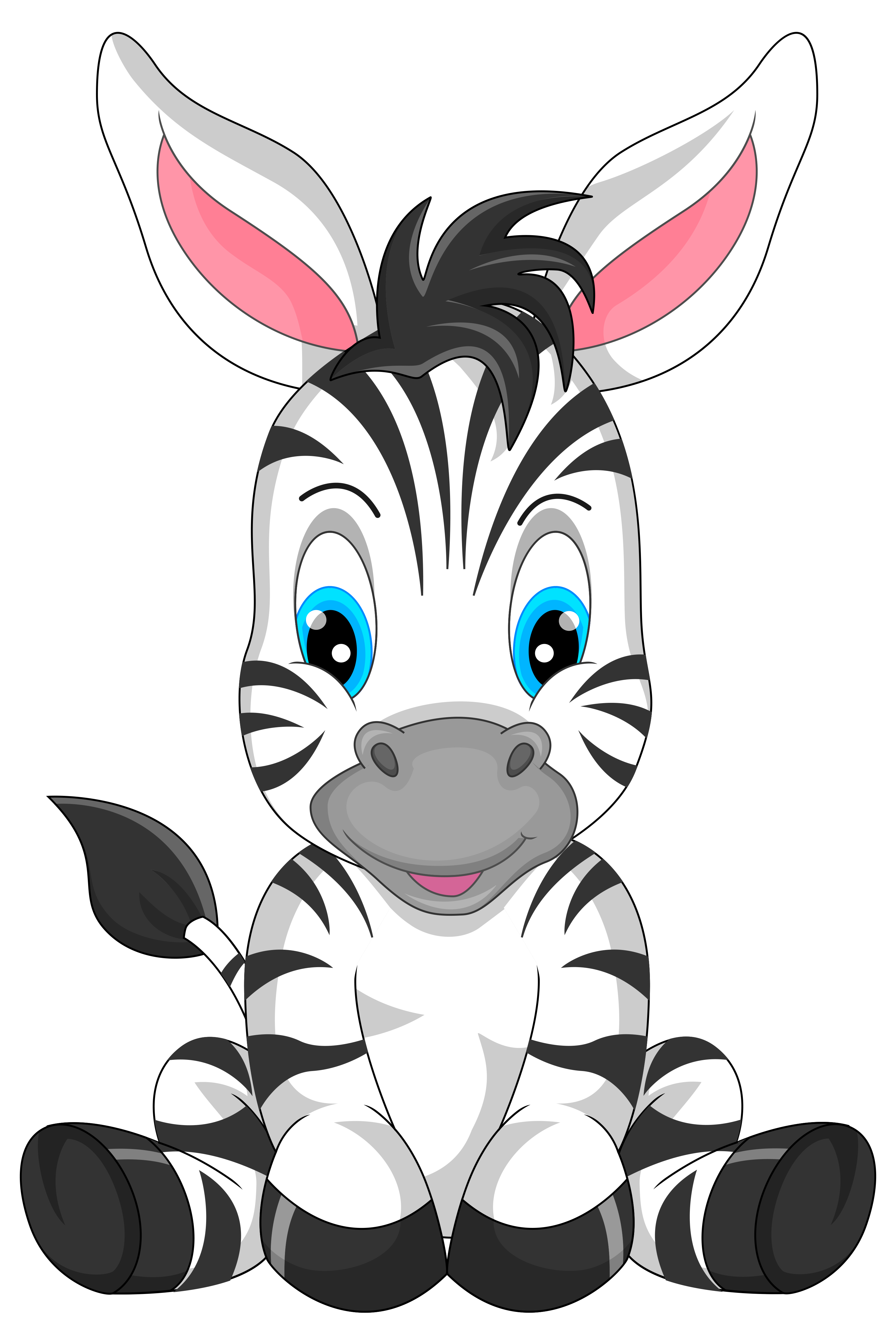 Zebra at school clipart vector freeuse library Cute Zebra Cartoon PNG Clipart Image | Gallery Yopriceville ... vector freeuse library