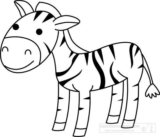 Zebra coloring clipart black and white graphic library download Pin by Nelda Mullins on Clip Art | Animals black, white ... graphic library download