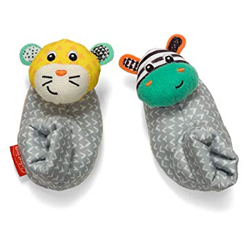 Zebra feet clipart graphic transparent library Infantino Foot Rattles, Zebra and Tiger graphic transparent library